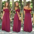 Sexy Backless Shoulder Party Dresses Pure Color Sexy Long Club Summer Dress