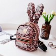 Shining Sequins Colorful Rabbit Ear Mini Animal Bag Girl's Backpack