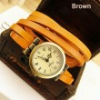 Fashion Retro Style Multi-wraps Thin Belt Retro Watch