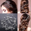 Fashion Leaves Pearl Branch Headband Wedding Hair Chain Hair Accessories