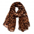 Unique Thin Cotton Voile Scarf Leopard Multi-Color Women Scarves