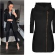 New Side Zipper Plus Fleece Coat Hooded Jacket Winter Sweatshirt Women's Coat