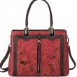 Retro Real Leather 3D Flower Vertical Zipper Original Lady Handbag Shoulder Bag