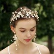 Sweet Flower Wedding Headdress Mori Garland Bridal Handmade Crown Hair Accessories