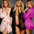 Sexy Lace Kimono Chemise Sleepwear Robe See Through Women's Dress Lingerie