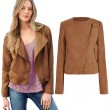 Autumn Motorcycle Style Long Sleeve Inclined Zipper Lapel Jacket