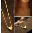 Lovely Gold Heart shape Pendant Necklace