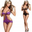 Sexy Three Points Rope Siamese Transparent Women Lingerie
