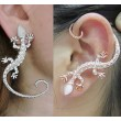 Nightclub Embedded Diamond Punk Gecko Earrings