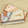 Flower Printing Lace Grid Fresh Wallet