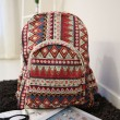 Folk Geometric Floral ZigZag School Backpack