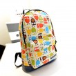 Lovely College Style Owl & Leaves Canvas Backpack