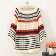 Unique Hollow Out Bat Sleeved Sweater · Fashion Hollow Wave Striped  Sweater Cardigan 0e1a42236