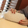Bling Bling Pearl Beaded Noble Clutch Wedding Bag Party Clutch Prom Evening Bag
