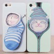 Lovely Cat Animal Silicone Iphone 4s/5c/5s/6 Cases