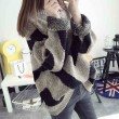 College Loose Round Neck Batwing Sleeve Coat Sweater