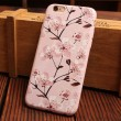 Morning Glory Cherry Peony Flower Relief Silicone Soft Iphone Cases For 6/6Plus