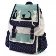 Lovely Dot Lovely Cat Lace Leisure School Backpack