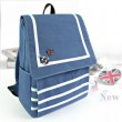 Fresh Navy Style Stripe Canvas College Backpacks