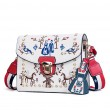 Cute Rivet Women's Mini Embroidered Messenger Bag Small Square Shoulder Bag