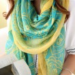 Flower Shawl Scarf Dual Beach Towel Girl Sunscreen Scarf