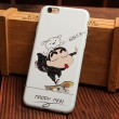 Lovely Bear Cat Happy Glasses Boy Relief Silicone Soft Iphone Cases For 6/6Plus