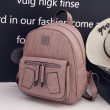 Creative Student Bag Pink Pu Girl's Rivet School Backpack