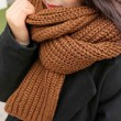 Student Solid Color Warm Knitted Scarf Thick Coarse Woolen Lovers Scarf