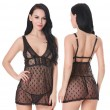 Sexy Lace Perspective Dress Intimate Polka Dot Women Lingerie