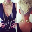 Punk Stylish Exaggerated Sexy Tassel Jewelry Sweater Necklace