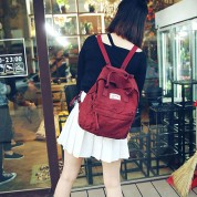 Leisure Canvas School Rucksack Multi-function Travel Handbag Backpack