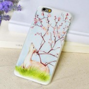 Fresh Art Deer Plum Flower Relief Soft IPhone 5/5s/6/6p Cases