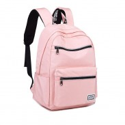 Leisure Double Zippers Water Resistant Plus Size Oxford Junior School Bag Backpack Laptop Bag Student Backpack