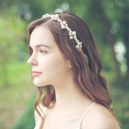 Fresh Handmade Bridesmaid Pearl Headband Bride Hair Accessories