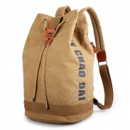 New Bandage Travel Rucksack School Bag Men's Bucket Backpack Large Capacity Canvas Sports Backpack
