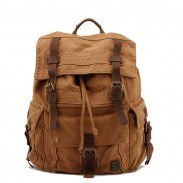Retro Multi Buckle Canvas Backpacks
