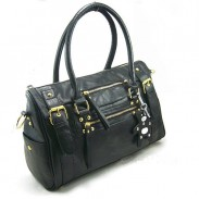 Fashion Classic Black Rivet Bear Handbag