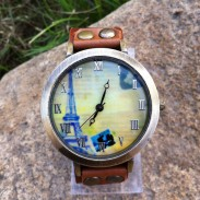 Retro Original Eiffel Tower Leather Watch