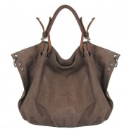 Ladies Original Leisure Simple Solid Canvas Hobo Handbag Crossbody Shoulder Bag