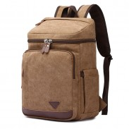 Leisure High Capacity Outdoor Rucksack Laptop Travel Men's Backpack Student Cylindrical Backpack