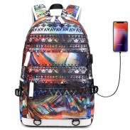 Fashion Teen Unique Colorful Irregular Shape Large Capacity Waterproof Young Student Backpack