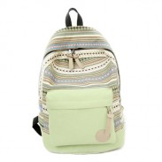 Fresh Folk Geometry Striped College Backpack