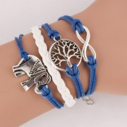Lovely Elephant Life Tree Infinity Bracelet