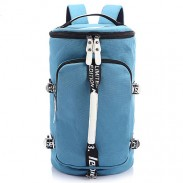 Cool Cylindrical Camo Canvas Backpack Messenger Bag Travel Bag