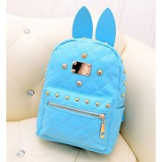 Retro Punk Style  Bunny Ears Rivet Backpack