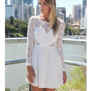 Hotsale Backless Lace Flounced Dress