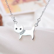 Lovely Cat Animal Silver Pendant Necklace/Jewelry Gift
