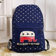 Western Style Casual Star Elephant School Bag Travel Backpack Rucksack