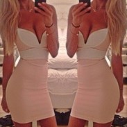 Night Club Deep V Bodycon Party Dress