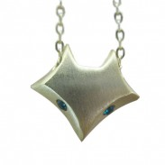 Personality Fox Pattern Silver Pendant Necklace